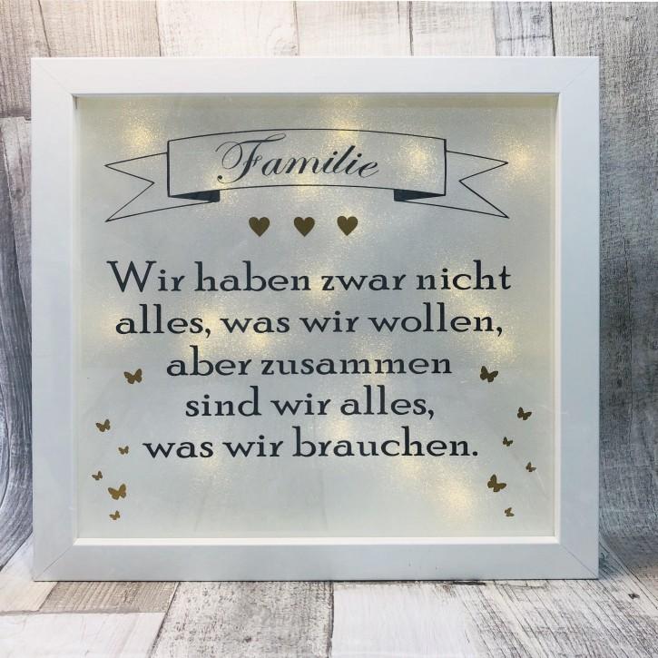 """Rahmen beleuchtet """"Familie"""""""