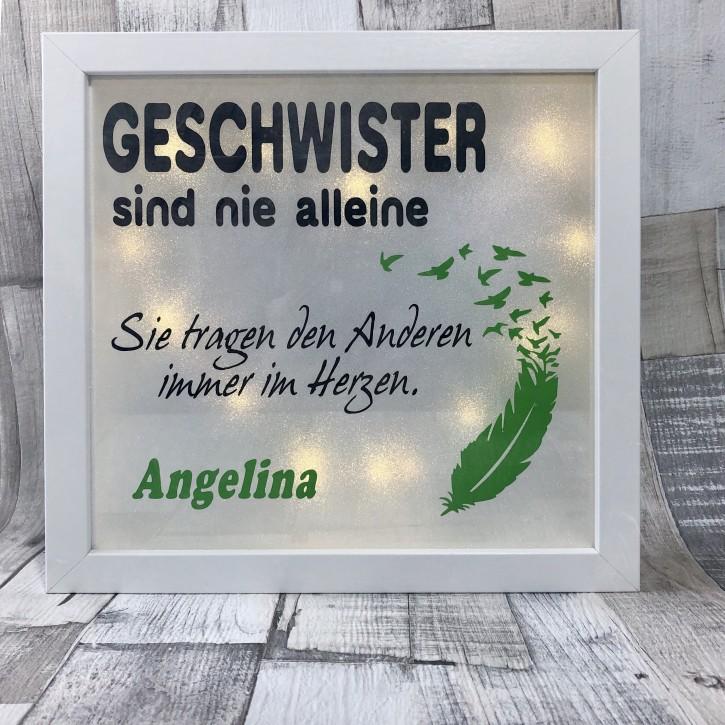 """Rahmen beleuchtet """"Geschwister sind nie alleine"""""""